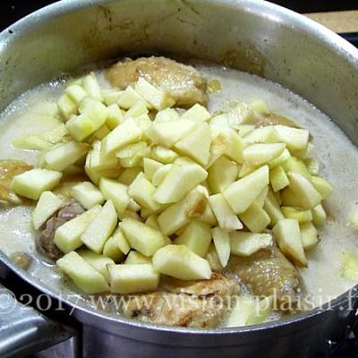 poulet aux pommes