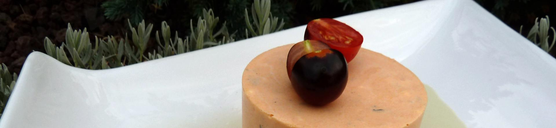 Bavarois tomates et basilic