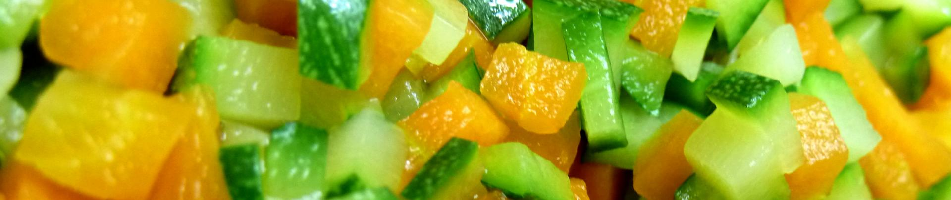 Brunoise legumes