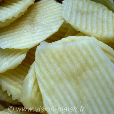 Chips gaufrees pomme de terre