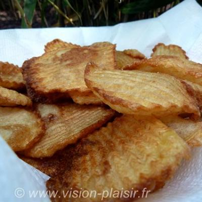 Chips gaufrees