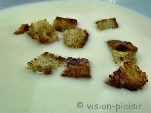 Croutons pour creme dubarry