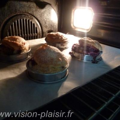 Cuisson mini tourtes desserts