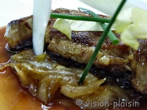 Endives braisees et foie gras