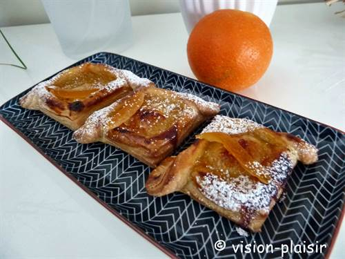 Feuilletes croises a la marmelade d orange finis 1