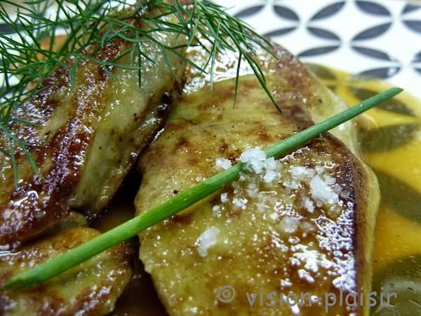 Foie gras cuit navets