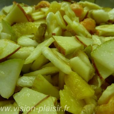 Fruits de saison et amandse