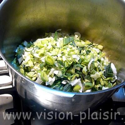 mis en cuisson du potage