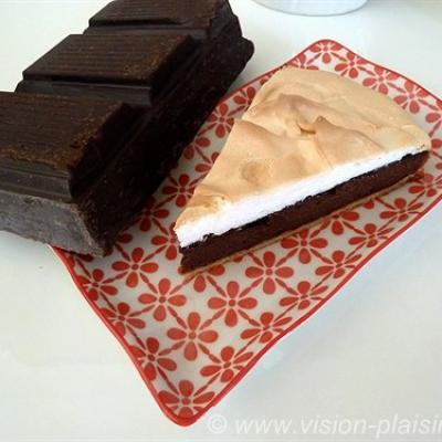 La tarte chocolat meringue et pistache