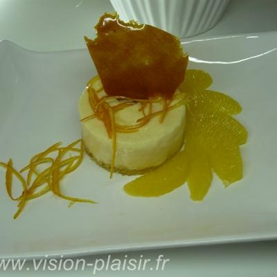 Mousse glacee a l orange