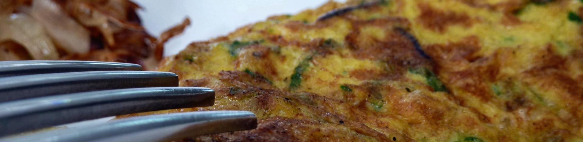 Omelettes aux oignons cuit 2