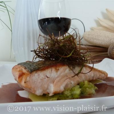 saumon-pavé au poireaux