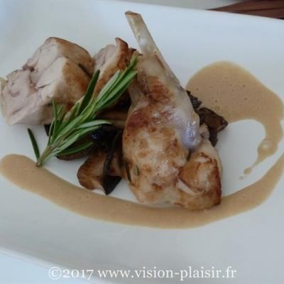 cuisse de lapin rôti