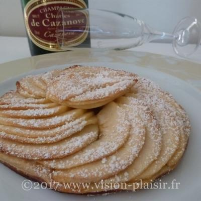tarte - pommes-chaude