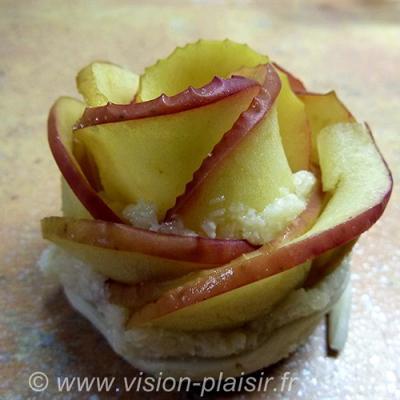 Pommes en roses