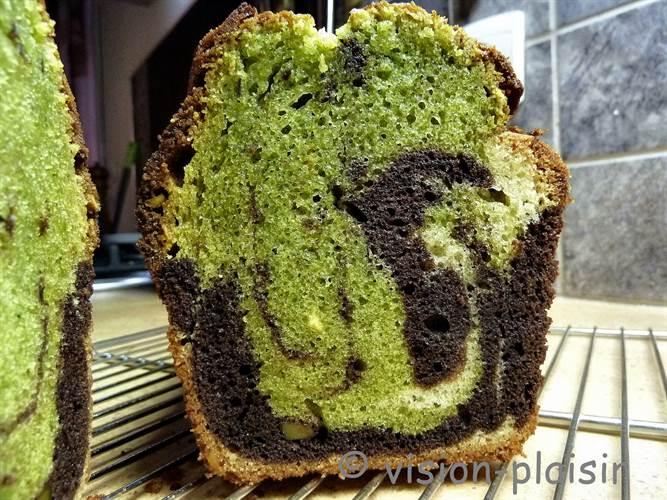 Realiser cake marbre pistache