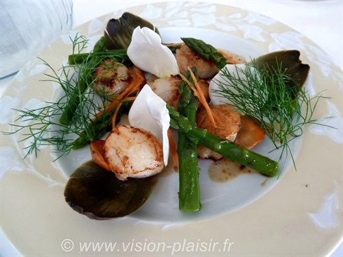 Salade st jacques asperges