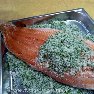 Saumon marine au fenouil frais