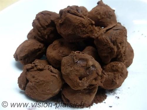 Truffes au chocolat cacao